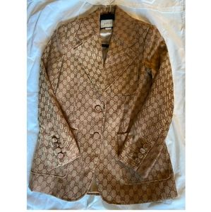 Pre-owned Gucci GG Brown Jacket Small